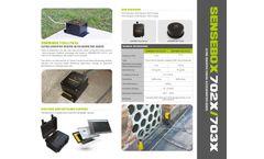 Model Sensebox702x/703x - Ultra Sensitive Seismic Accelerometer Series - Datasheet