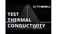 C-Therm Trident TCi Thermal Conductivity Instrument Video