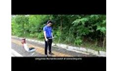Underground pipes water leak detector Video