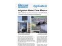 Irrigation Water Flow Measurement Application Brochure