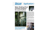 Water Bottling Plant Chooses Greyline for Level Control - Application Note