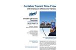 Greyline - Model PTFM 1.0 - Portable Transit Time Flow Meter - Brochure