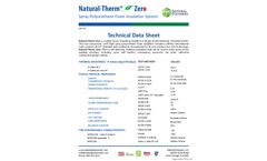 Natural Therm - Semi Rigid Spray Polyurethane Zero Cell Foam Brochure