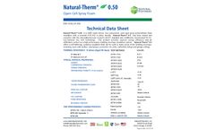 Natural Therm - Model 0.50 PCF - Standard Open Cell Brochure