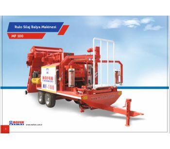 MOFEM - Model MF100 - 100KG BALER & WRAPPER COMBINATION