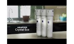 User guide to under-sink drinking water filter Aquaphor Crystal Eco Video