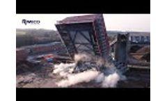 Demolition of the Denox building Video