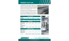 Trident - Dissolved Air Flotation System (DAF) Brochure