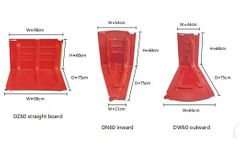 Denilco - Model DZ60 - 60cm height flood boxwall