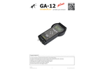 Madur - Model GA-12plus - Hand Held Portable Gas Analyzer Brochure