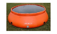Eldred - Model Type B - Self-Supporting Frameless Portable Water Tank (Onion Style) Low Side