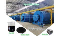 Waste tire plastic pyrolysis plant design
