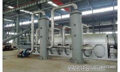 Continuous pyrolysis plant introduction and running video