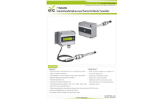 eYc - Model FTM84/85 - Industrial Grade High Accuracy Thermo Air Velocity Transmitter Brochure