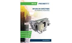 Precimet - Model MSO-03 - Crate Washer Brochure