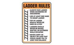 Accuform - Model MCRT543VS - Ladder Rules Safety Sign
