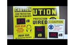 Decibel Meter Sign Video