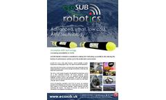 ecoSUB - Model 5 - 500 m rated Micro-AUV - Marine Autonomous Robotics Systems Brochure