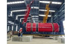 A new-type rotary drum dryer kills papermaking sludge to reap the benefit of green growth