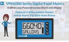 Loop-powered Isolator / Alarm with Digital Display | Acromag VPM2000 Video