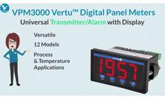 Panel Meter, Universal Transmitter / Alarm with Digital Display | Acromag VPM3000 Video