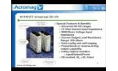 Acromag Video: 611T 612T Single or Dual Channel, DC Voltage/Current Input, DC-Powered Transmitter