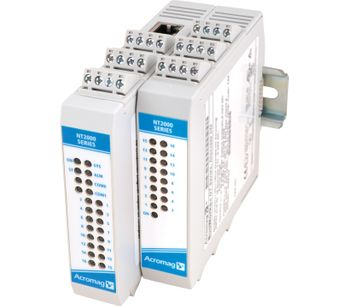 Acromag New Ethernet Remote I/O Modules Support I/O Expansion of up to 64 channels with a Mix of Signal Types on a Single IP Address