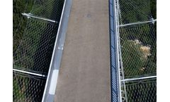 X-tend stainless steel bridge protection railing cable nets