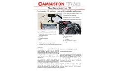 Cambustion - Model FID600 - Fast HC AnalyzersBrochure