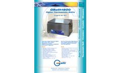 GBath - Model 1800 - Digital Thermostatic Bath - Brochure