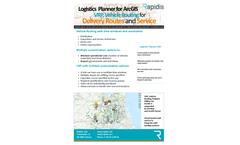 Rapidis - Last Mile Route Planning Software for Parcel Distribution Brochure