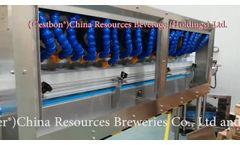 RAETTS high-speed blower and spider manifold air knives drying system for C?estbon bottle drying Video