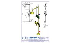 Carlos Arboles - Model 4220 - Pedestal Shower and Eyewash Eyewashes Brochure