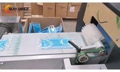 120pcs/min Mask Making Machine + Mask Packaging Machine & UV Sterilization Machine - Video