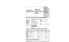 Mixed Metal Oxide MSDS