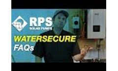 RPS WaterSecure - Customer FAQs on Solar / Battery / Inverter for Water Pump Backup Video