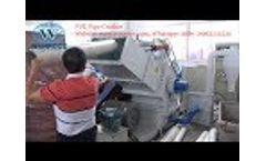 Pvc pipe crusher, plastic pipe crusher, plastic crusher recycling machine Video