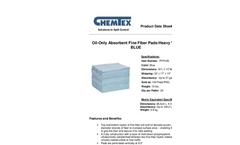 CHEMTEX - Fine Fiber Meltblown Meltblown Pads & Rolls Brochure