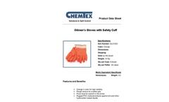 CHEMTEX - Model GLO1221 - Oilmen Gloves w / Safety Cuff Brochure