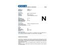 Chemtex - Model SPK50-H-W-R  - Datasheet