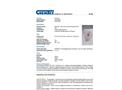 Chemtex - Model OILM7021 - Wall Mount Chemical/Solvent Spill Kit - Datasheet