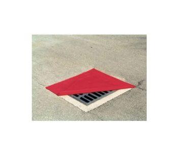Chemtex - Model OIL810 - Red Square Reversible Drain Cover