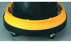 Chemtex - Model CON0130 - 10 Gal Single Drum Tray W/ Grating Round