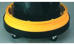Chemtex - Model 1615 - Single Drum Tray w/ Grating, Round, 10 gal