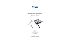Pyxis - Model SQ-3000NIR - Portable Micro Spectrometer Manual