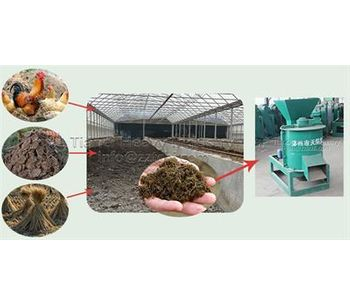 Application of chicken manure organic fertilizer crusher