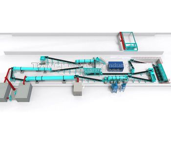 Process and equipment of 20000 t / a organic fertilizer production line