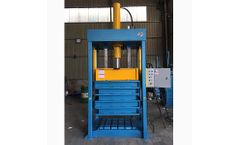 Skbaler - Model VLC1170T60 (150-250kg) - Vertical Lifting Chamber Clothing Baler