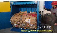 Cardboard balers Australia, cardboard compactor for sale Australia, cardboard baling machine - Video