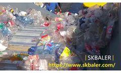 Industrial plastic pressing machine, pet bottles baler machine, plastic bottles press machine- Video